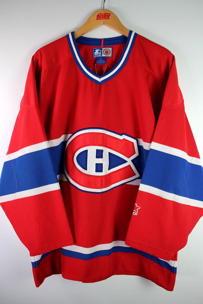 """USED!!! STARTER / """"MONTREAL CANADIENS"""" HOCKEY JERSEY (90'S) / red×blue×white"""