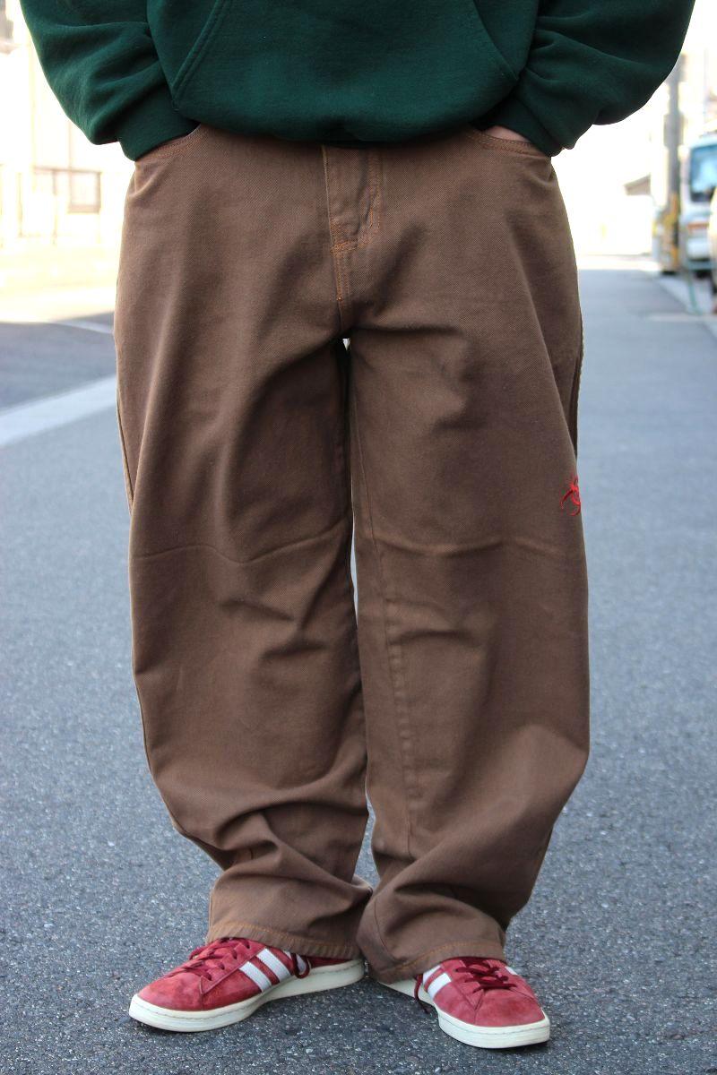 USED!!! HAZ-MAT / BUGGY PANTS (90'S) / brown
