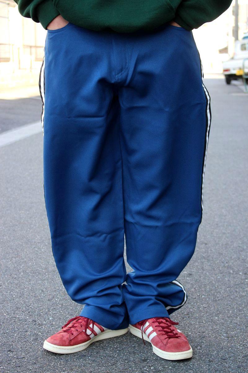 DEADSTOCK!!! KIK WEAR / SIDE LINE BUGGY PANTS (90'S) / navy×white×black