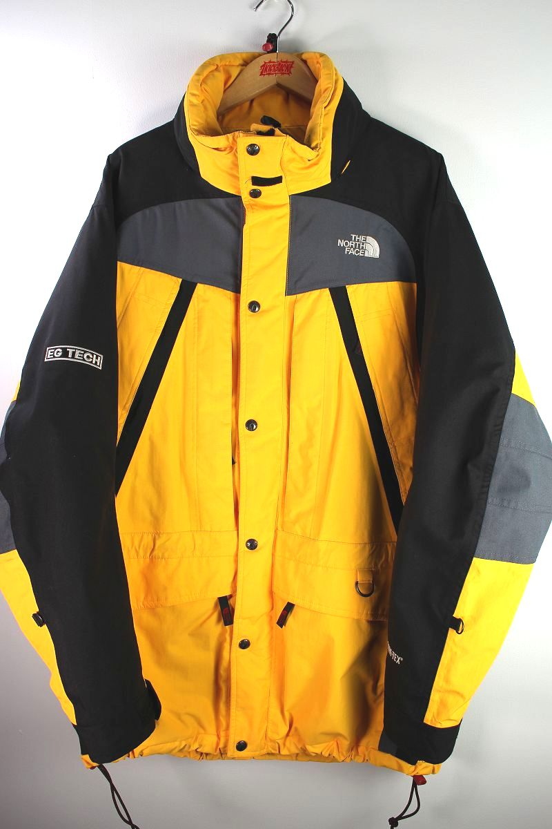 """USED!!! THE NORTH FACE  / """"EG TECH"""" GORE-TEX SNOW JACKET (90'S) / yellow×black×charcoal"""