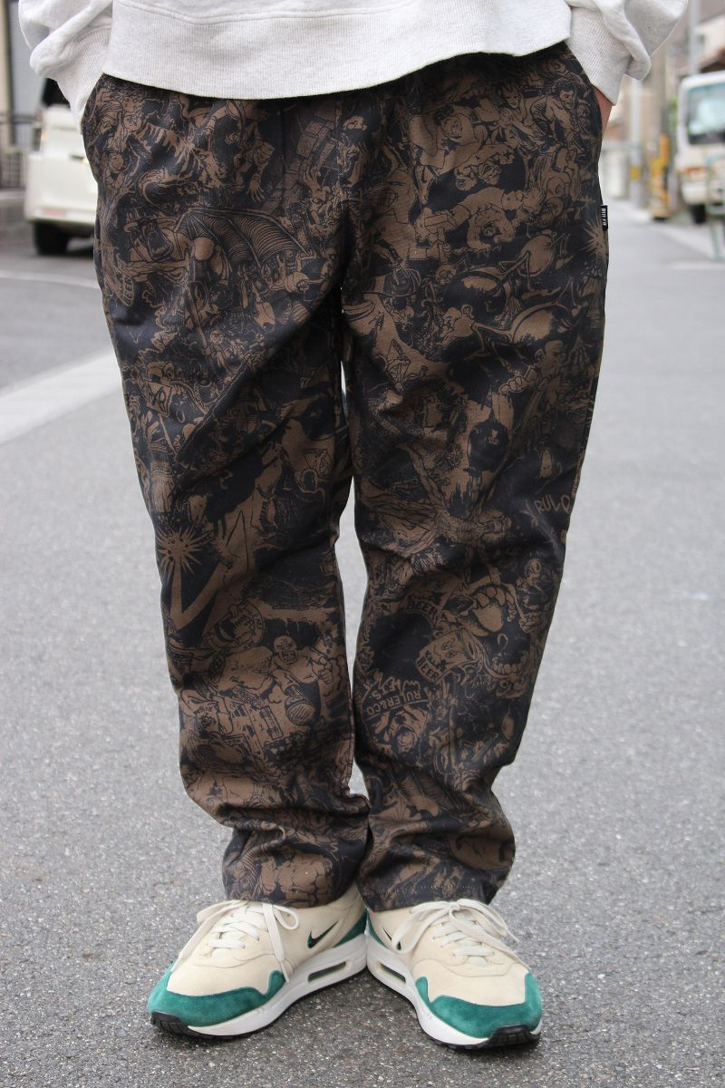 "RULER / ""WAY OF LIFE"" TAPERD PANTS / black"