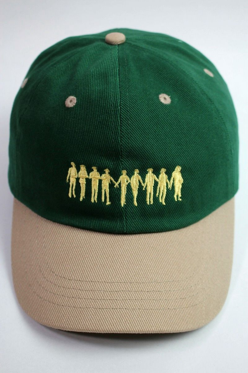 "RULER / ""ROCKERS"" LOW PROFILE BASEBALL CAP / green×tan"