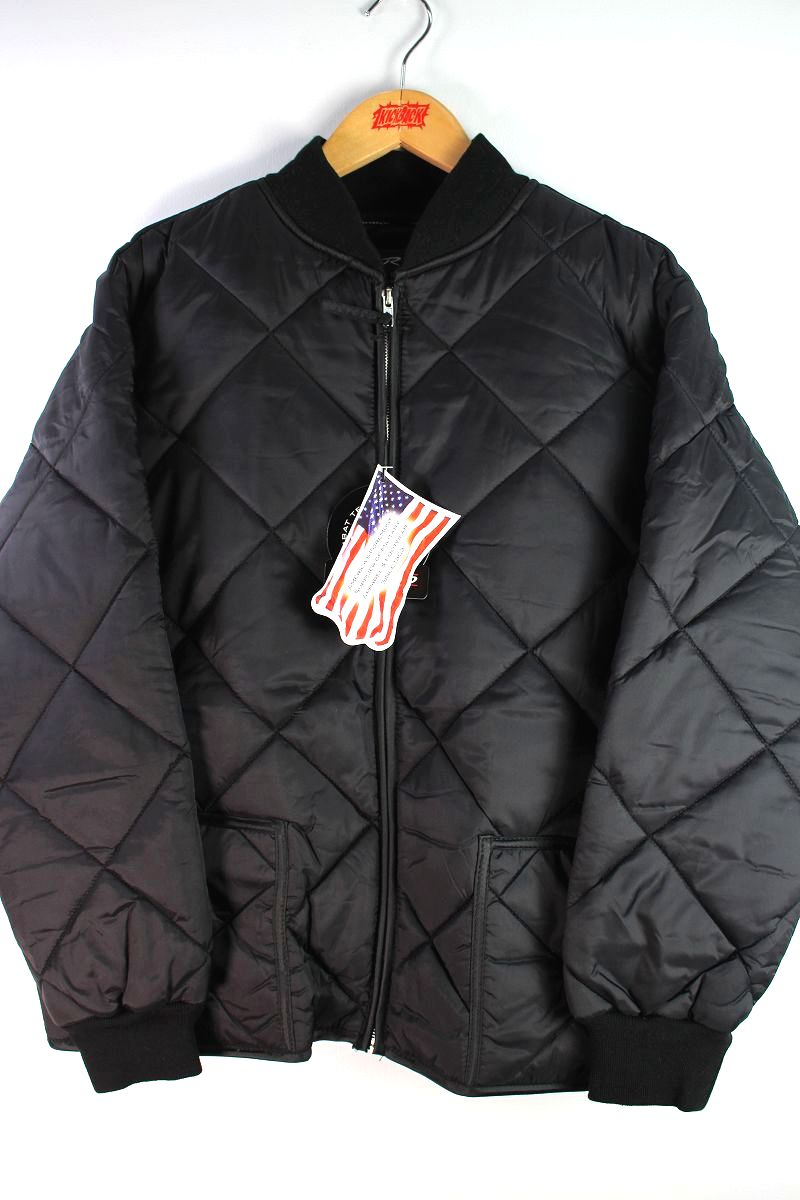 ROTHCO / DIAMOND NYLON QUILTED FLIGHT JACKET / black