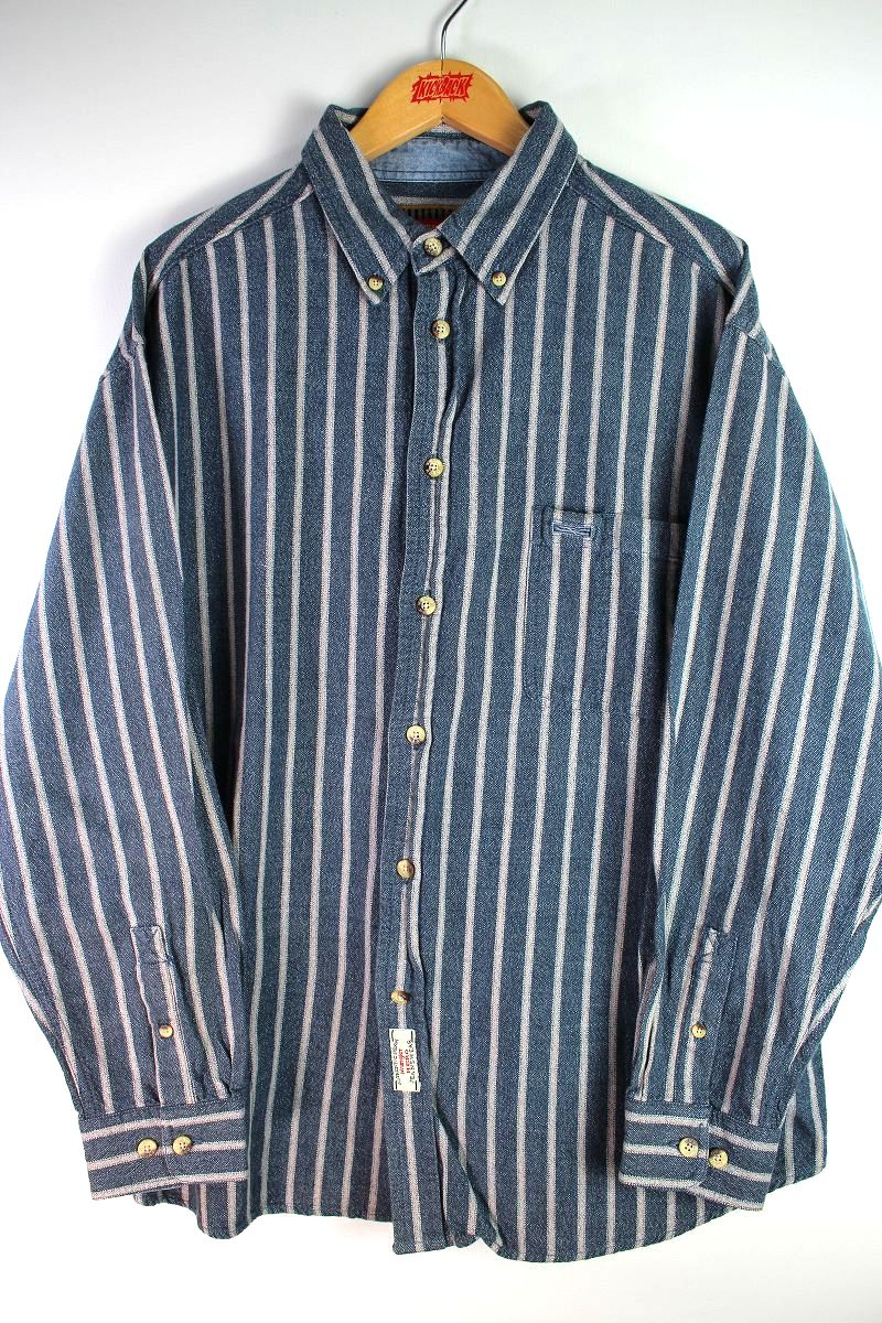 USED!!! WRANGLER / STRIPED BUTTON DOWN SHIRTS (90'S)