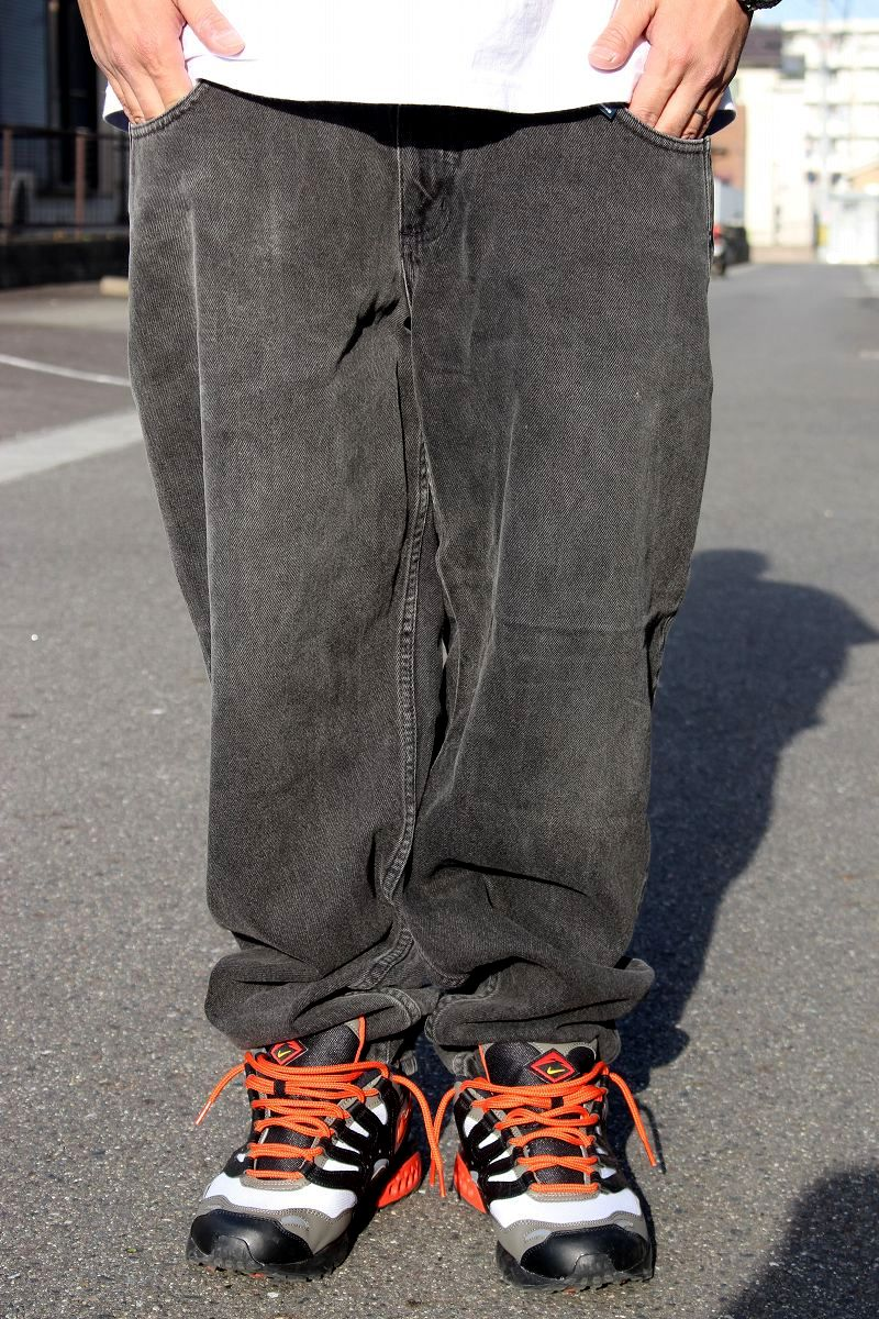 USED!!! GUESS / BUGGY DENIM PANTS (90'S) / washed black