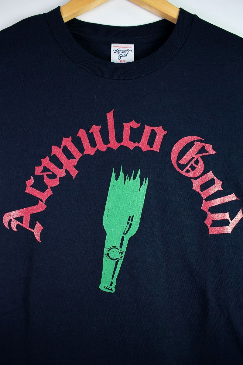 "ACAPULCO GOLD / ""PARTY IS OVER"" Tee / navy"