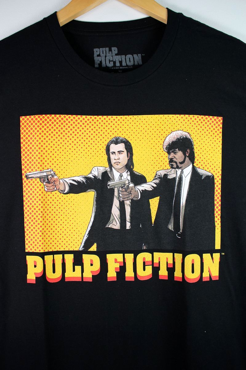 "PULP FICTION / ""COMIC FICTION"" Tee / black"