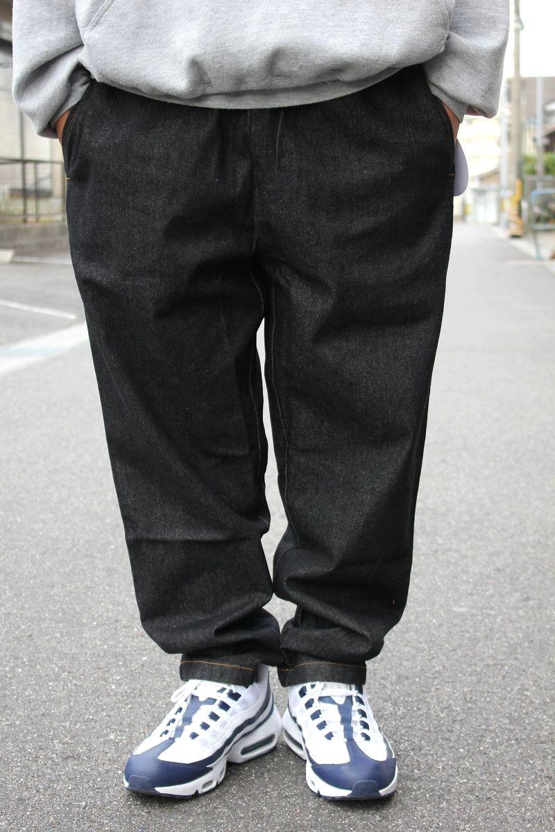 COOKMAN / DENIM CHEF PANTS / black