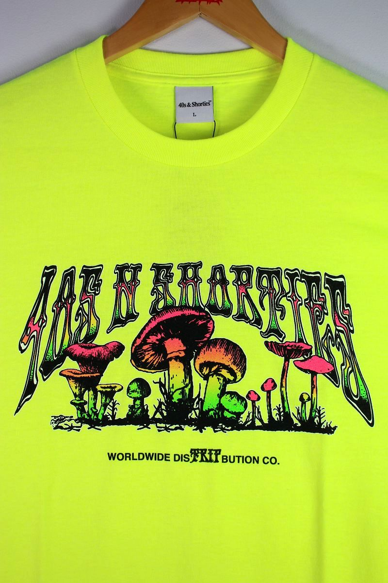 """40S & SHORTIES / """"TRIP OUT"""" Tee / yellow"""