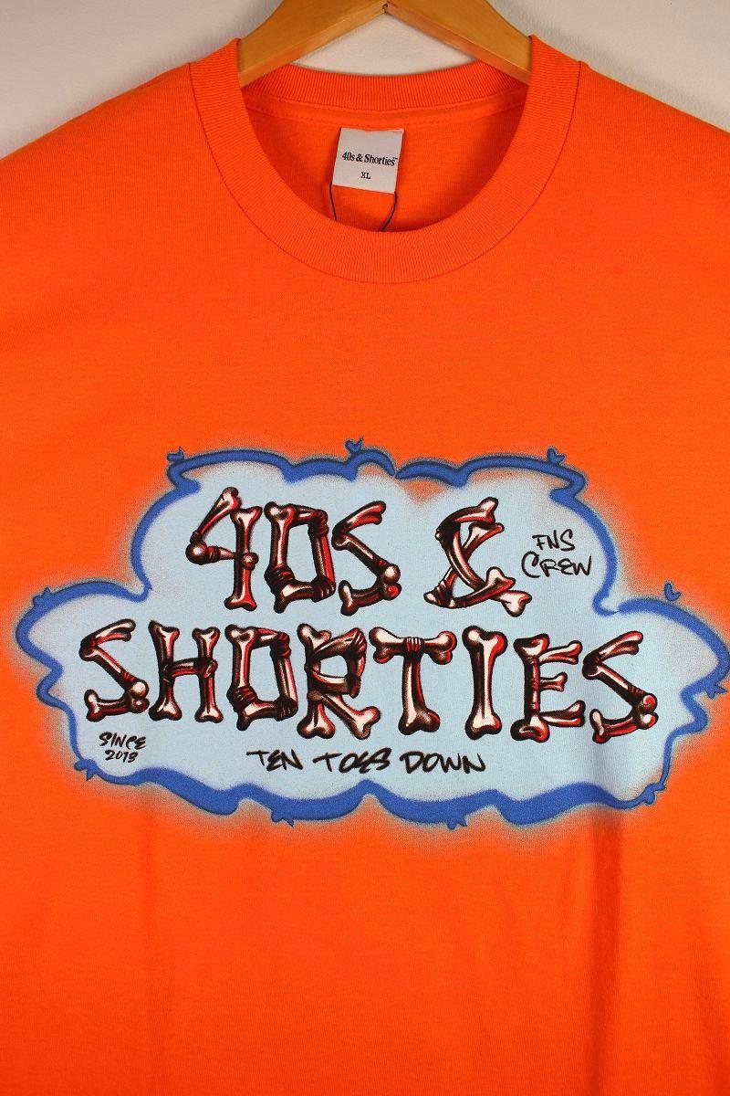 """40S & SHORTIES / """"BONES"""" Tee / orange"""