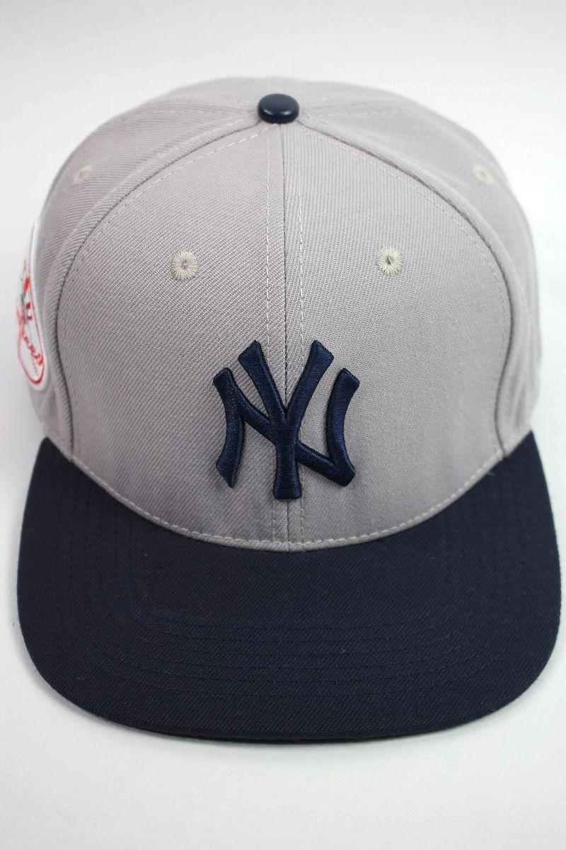 "PRO STANDARD / ""NEWYORK YANKEES"" SNAPBACK CAP / light grey×navy"