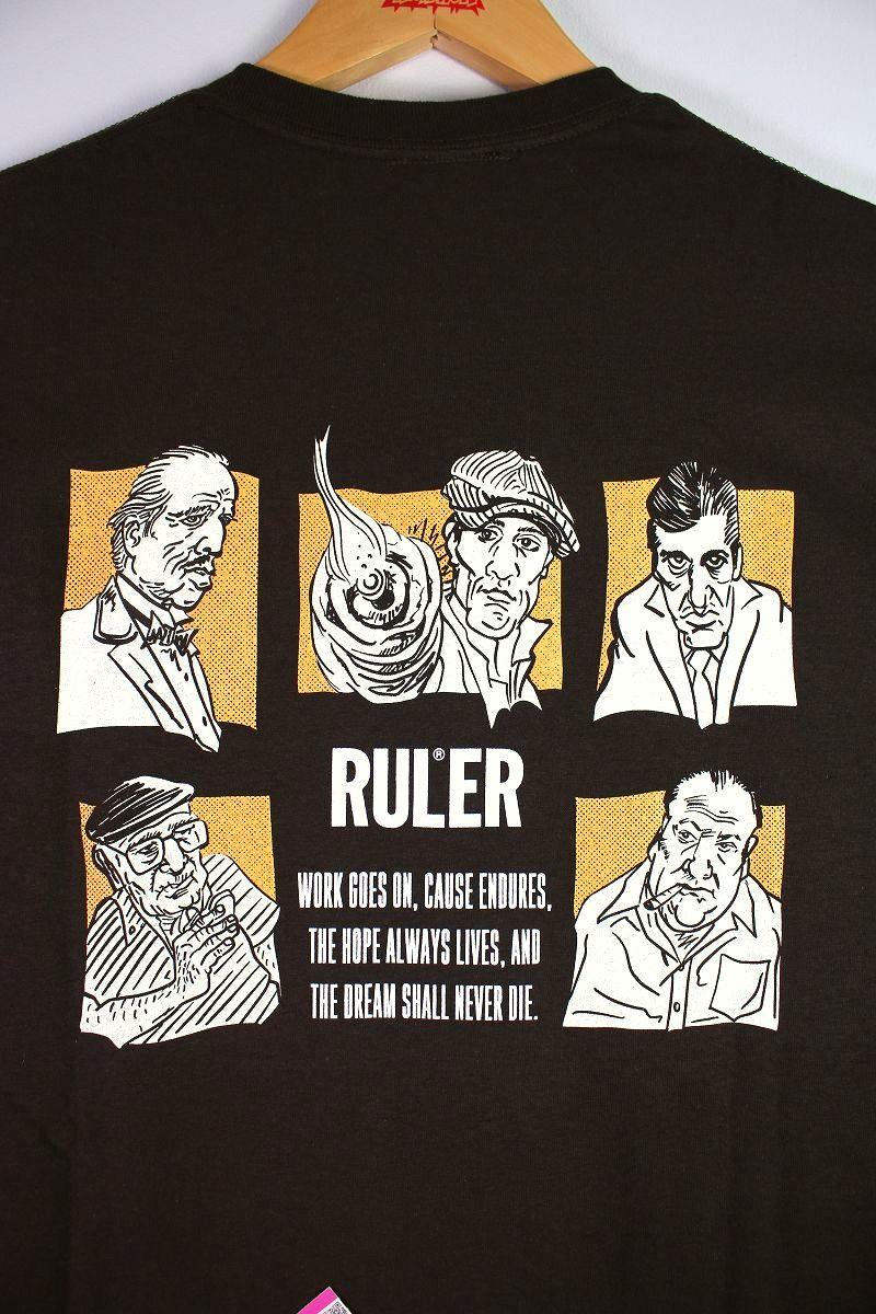 """RULER / """"MFA"""" Tee / brown"""