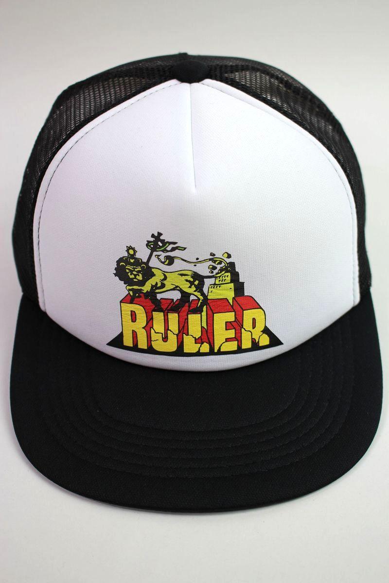 "RULER / ""DESTROY BABYLON"" MESH CAP / black"