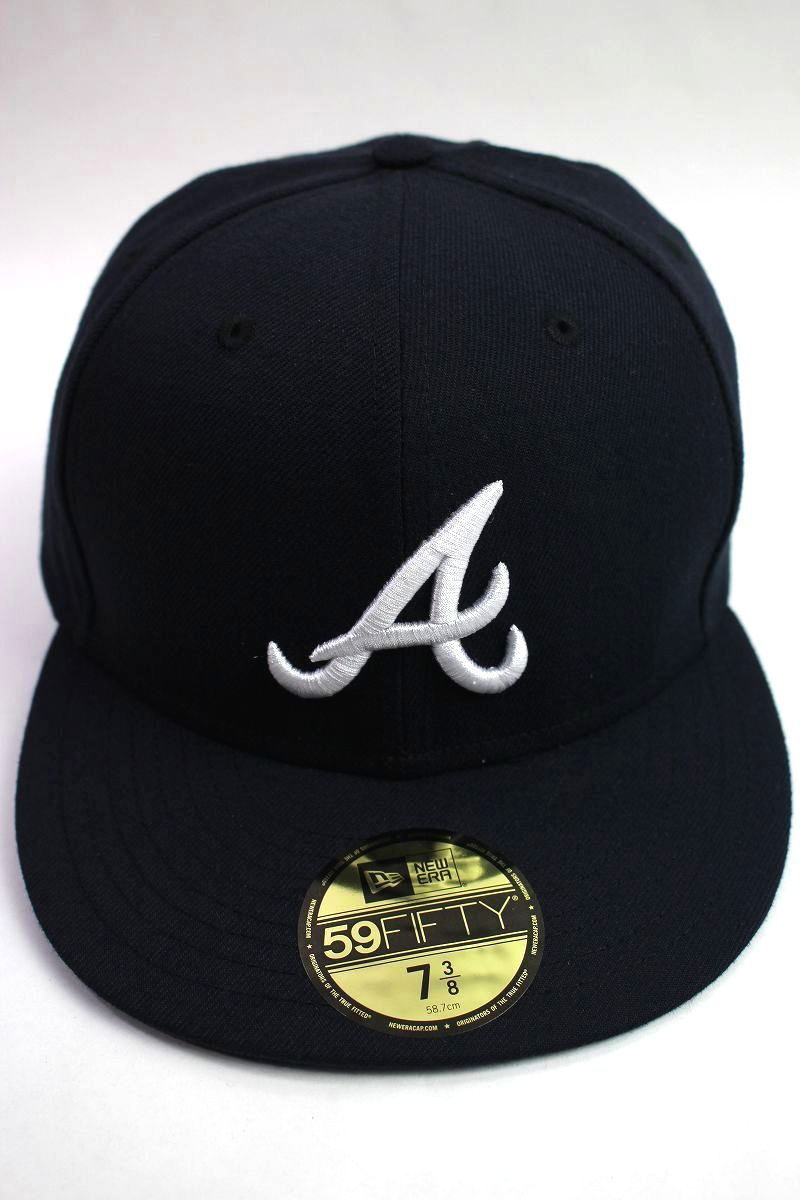 """NEWERA / """"ATLANTA BRAVES"""" 59FIFTY AUTHENTIC FITTED CAP / dark navy"""
