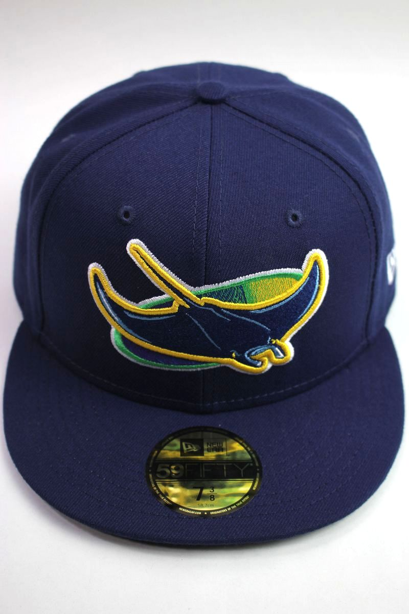 """NEWERA / """"TAMPABAY RAYS"""" 59FIFTY AUTHENTIC FITTED CAP / navy"""