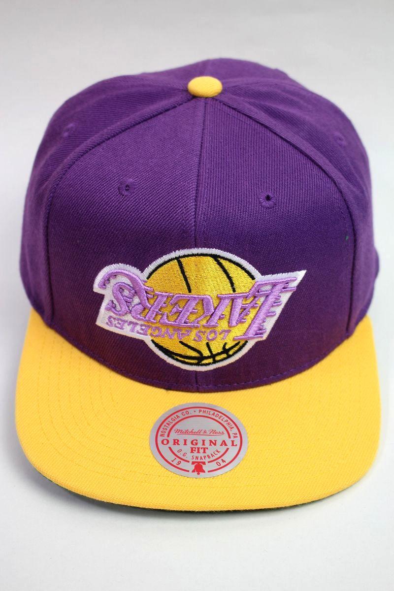 "MITCHELL&NESS / ""LOS ANGELS LAKERS"" 2-TONE SNAPBACK CAP / purple×yellow"