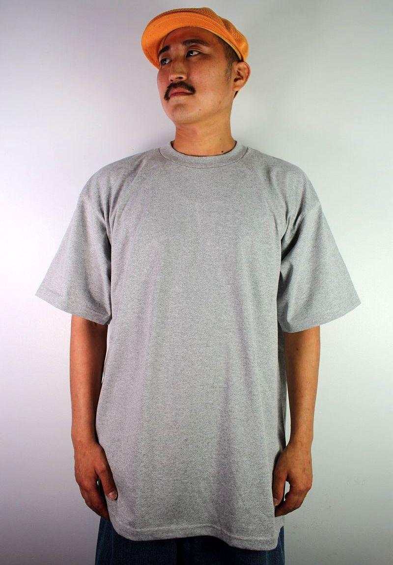 PRO CLUB / HEAVY WEIGHT CREWNECK Tee (TALL SIZE) / heather grey