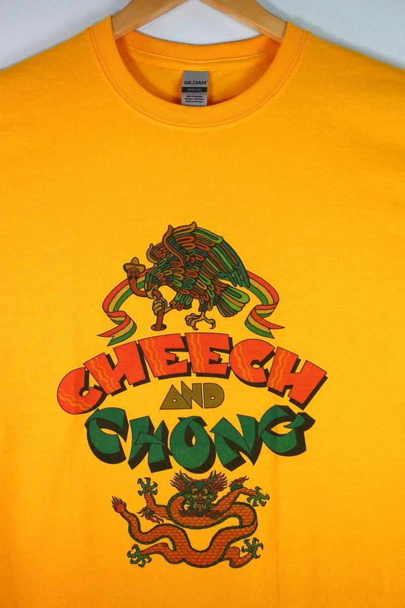 """CHEECH & CHONG / """"FIRST ALBUM COVER"""" Tee / yellow"""