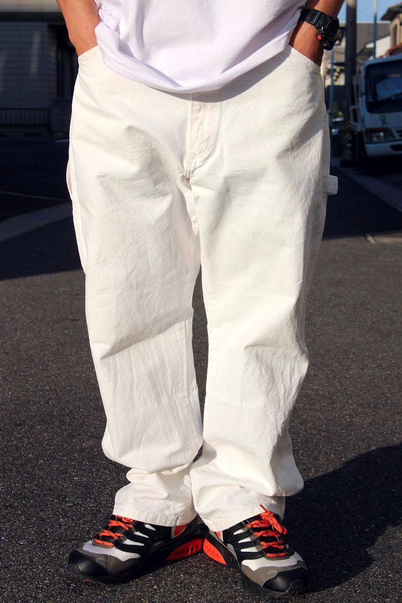 USED!!! BIG PEN / PAINTER PANTS (90'S) / white