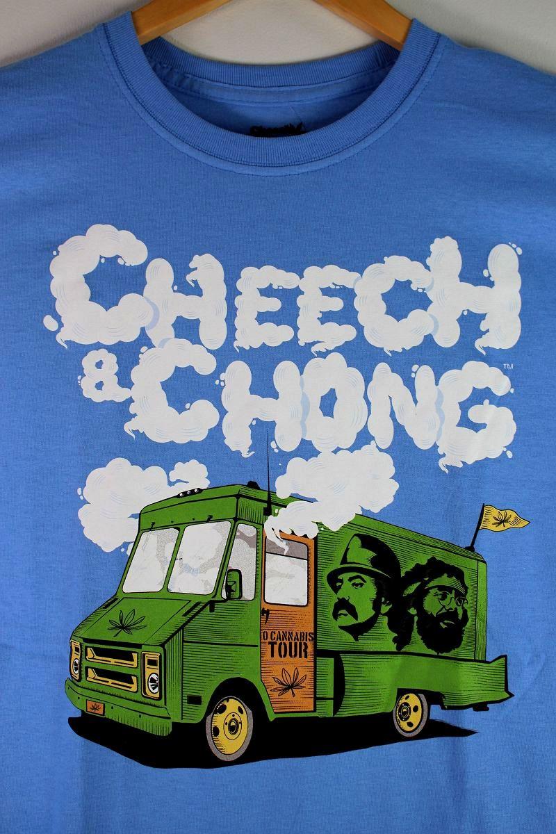 "CHEECH&CHONG×PREMIUM GARAGE / ""TRUCK"" Tee / carolina blue"