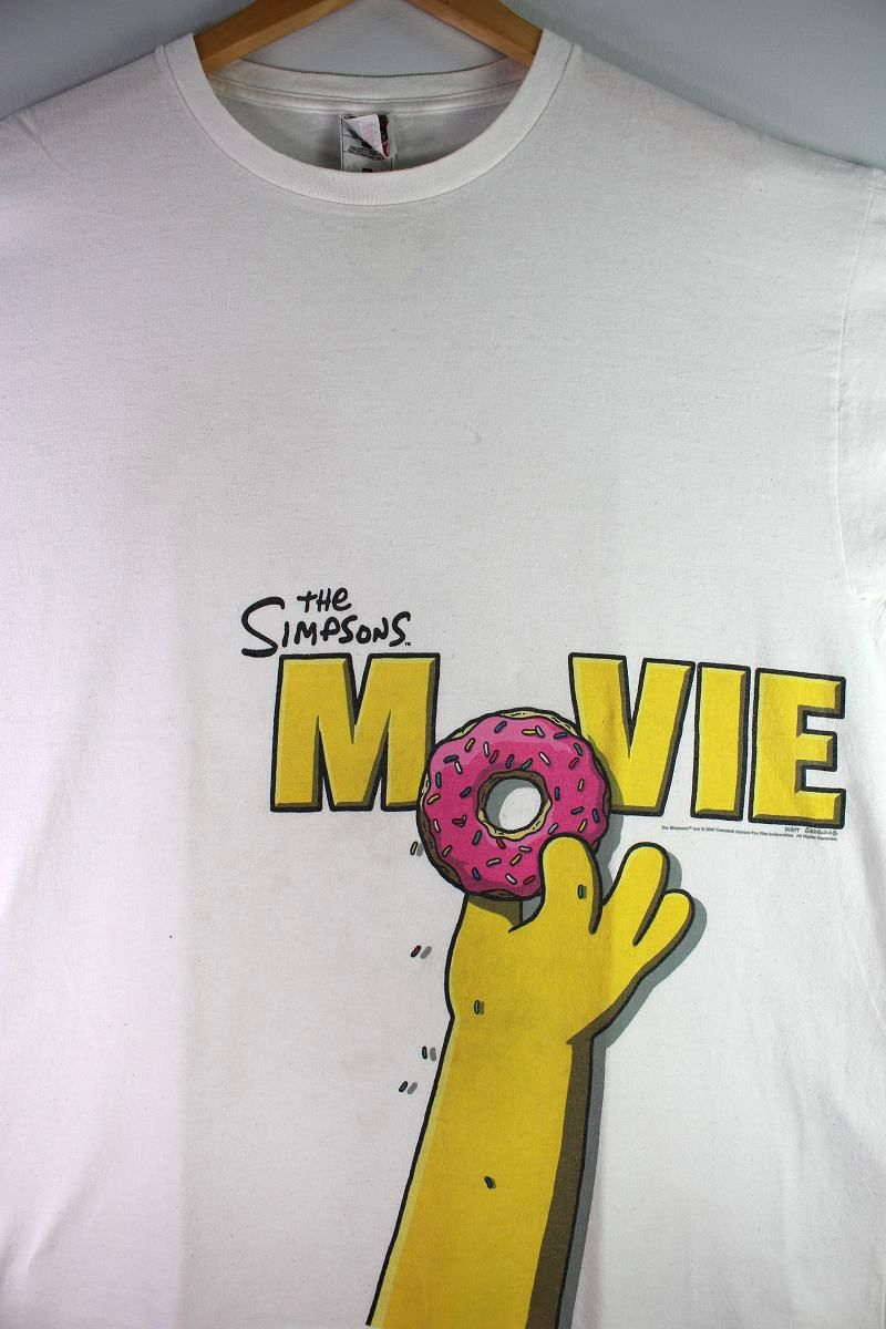 USED!!! THE SIMPSONS MOVIE / OFFICIAL Tee (00'S) / white