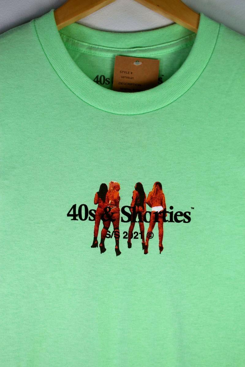 """40S & SHORTIES / """"CROSSTOWN"""" Tee / mint"""