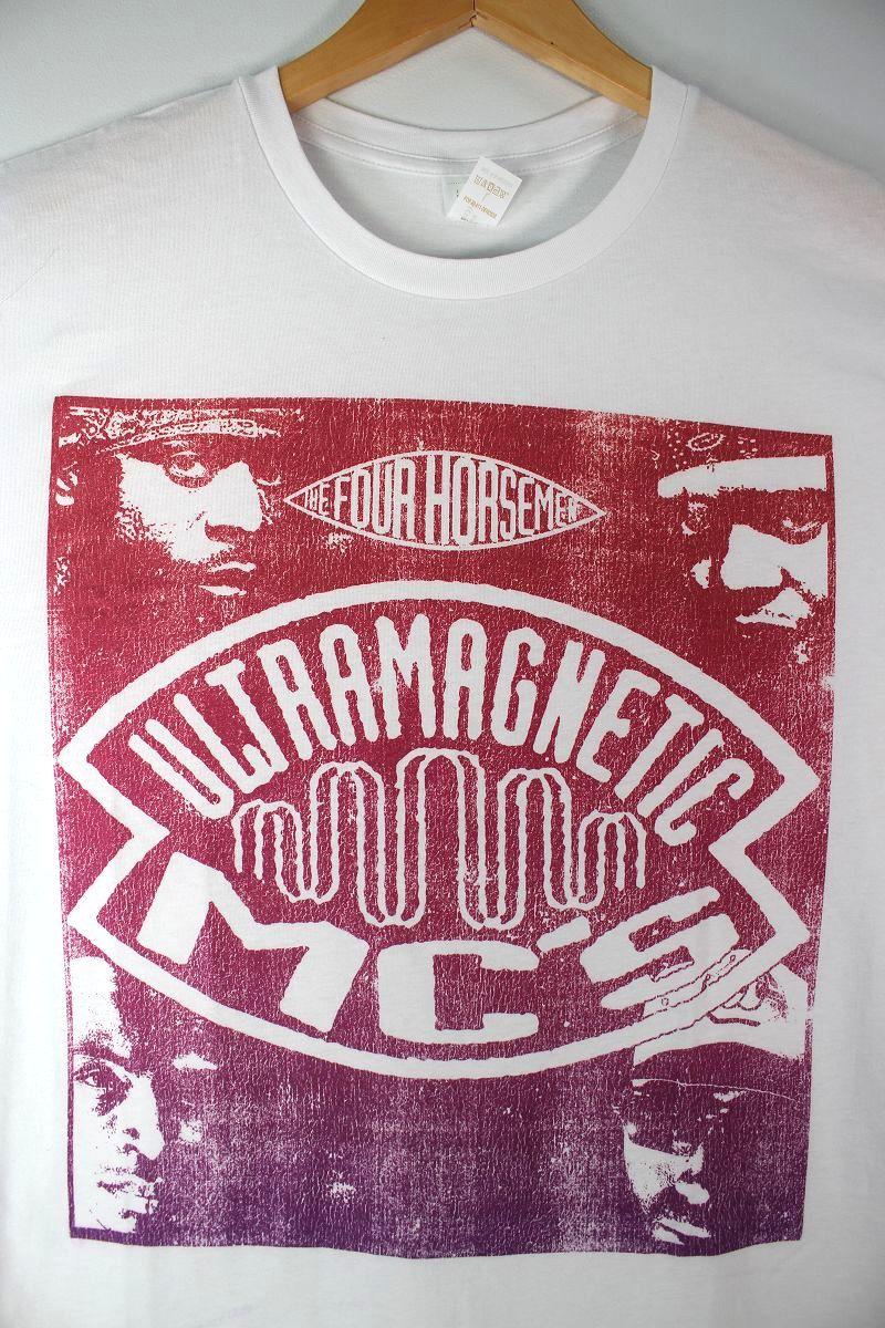 """ULTRAMAGNETIC MC'S / """"4 HORSEMEN"""" Tee / white"""