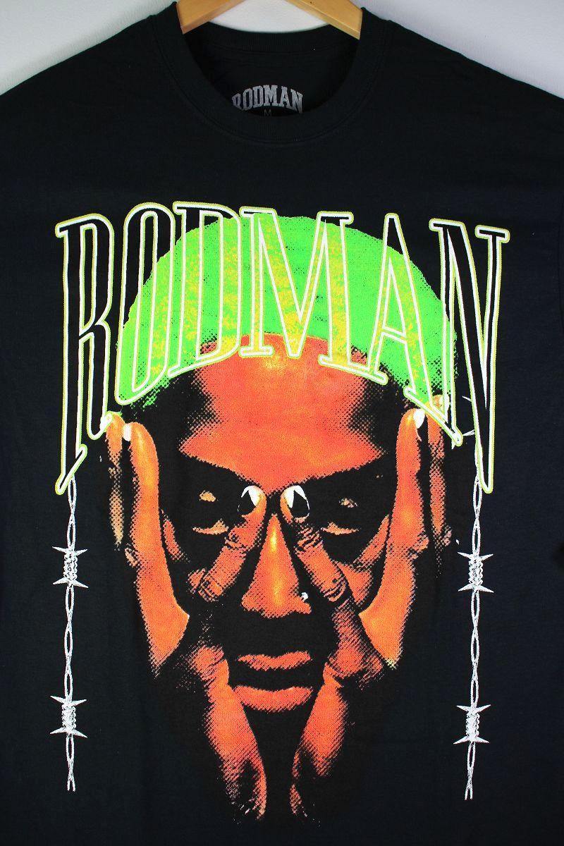 "RODMAN BRAND / ""BARBWIRE GREEN"" Tee / black"