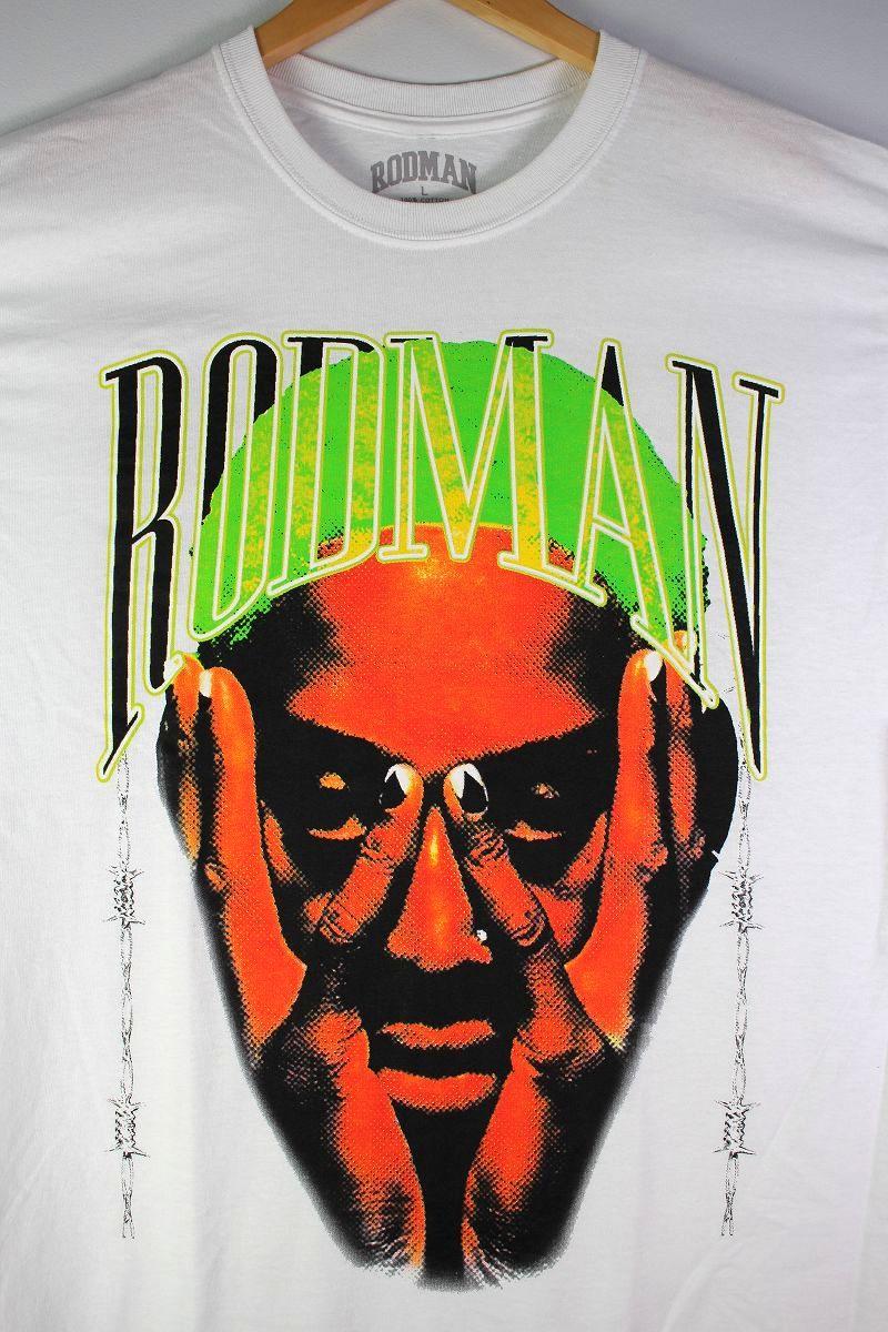 """RODMAN BRAND / """"BARBWIRE GREEN"""" Tee / white"""