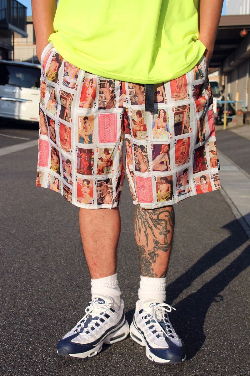 """40S & SHORTIES / """"NUDIE CARDS"""" SHORTS / white"""