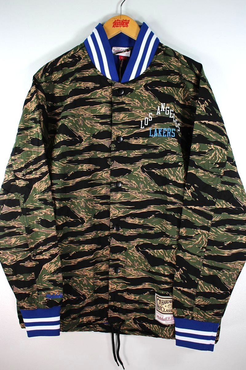 """MITCHELL&NESS / """"LOS ANGELS LAKERS"""" TIGER CAMO JACKET"""