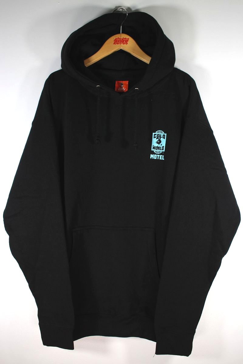 """COLD WORLD FROZEN GOODS / """"MOTEL BUNNY"""" PULLOVER HOODIE / black"""