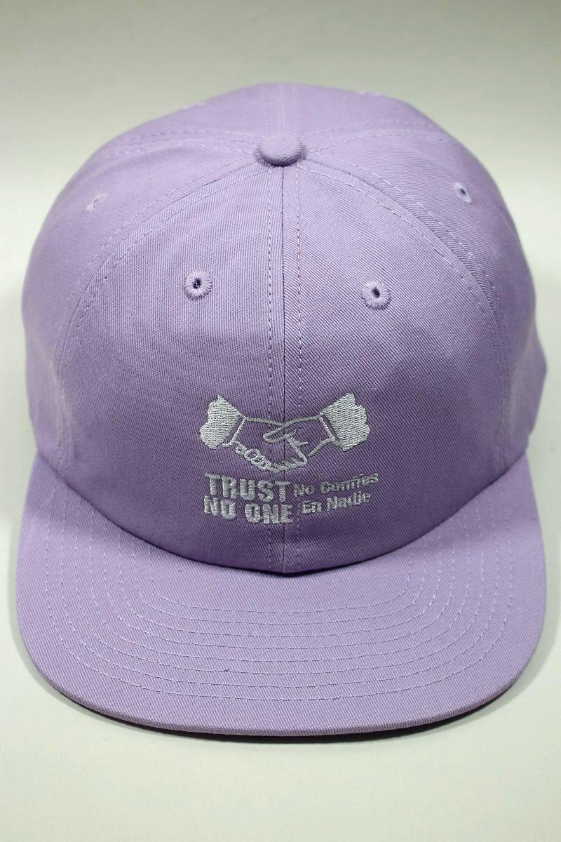 "COLD WORLD FROZEN GOODS / ""TRUST ISSUES"" STRAPBACK CAP / lavender"
