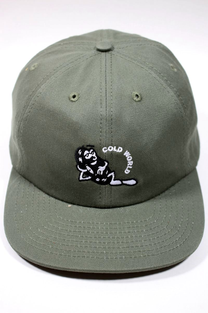 """COLD WORLD FROZEN GOODS / """"RECORD GROOVE"""" STRAPBACK CAP / olive"""