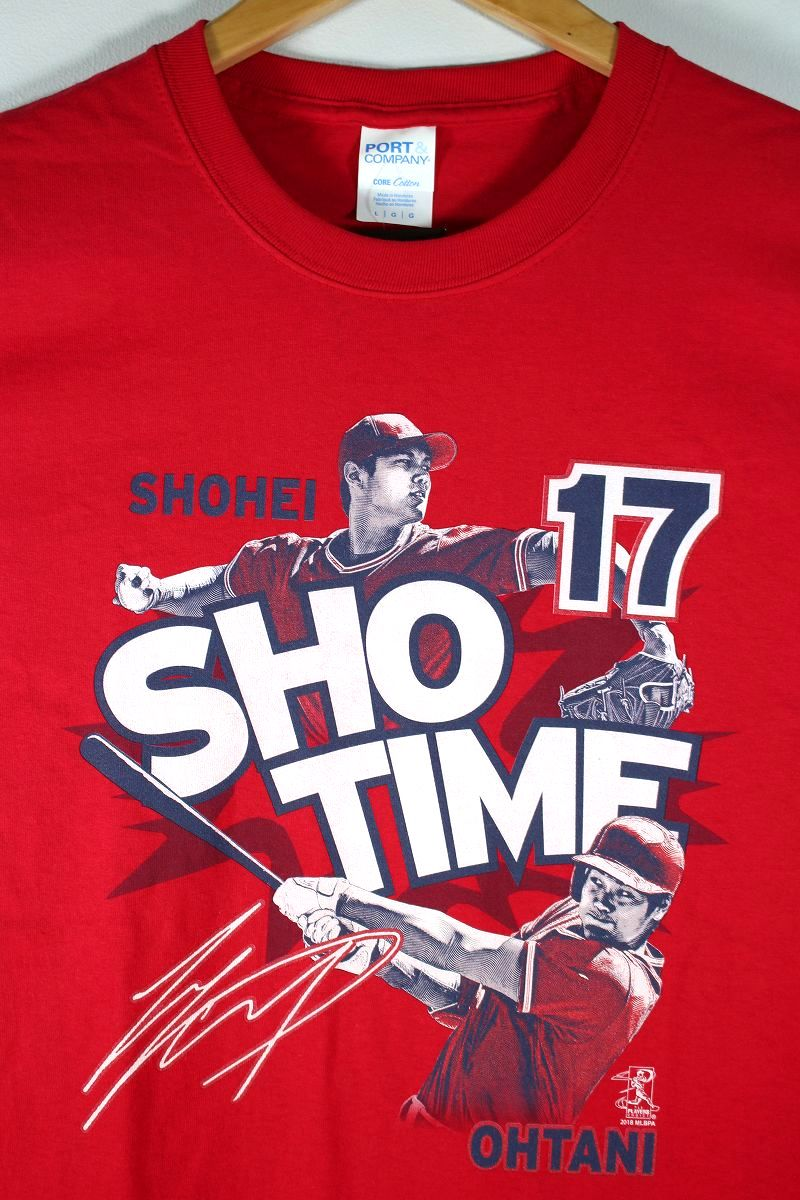 """MLB OFFICIAL / """"SHOHEI OHTANI -SHOW TIME"""" Tee / red"""