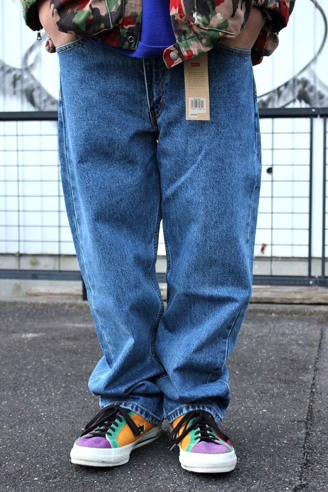 LEVI'S / 550 RELAX FIT DENIM PANTS / stone wash indigo