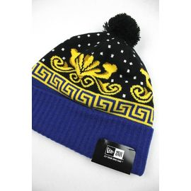 "ACAPULCO GOLD×NEWERA / ""ROYALTY"" POM POM BEANIE / black×yellow×blue"
