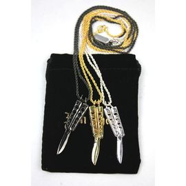 "HAN CHOLO / ""BUTTERFLY KNIFE"" NECKLACE"