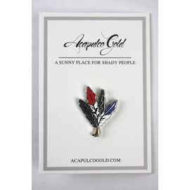 """ACAPULCO GOLD / """"FEATHERS"""" PIN"""