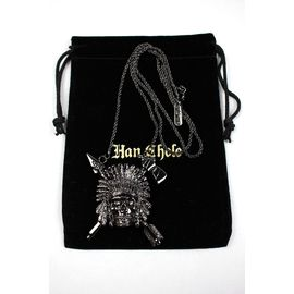 "HAN CHOLO / ""INDIAN CHIEF"" NECKLACE / gunmetal"