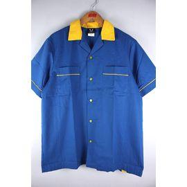 "HILTON / ""GM LEGENDS"" BOWLING SHIRTS / light blue×yellow"