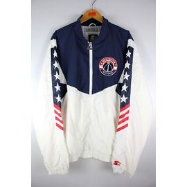 "STARTER BLACK LABEL / ""WASHINGTON WIZARDS"" NYLON TRACK JACKET / navy×white×red"