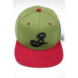 BROOKLYN BREWERY / LOGO 2-TONE SNAPBACK CAP / olive×burgundy