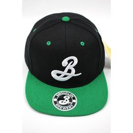 BROOKLYN BREWERY / LOGO 2-TONE SNAPBACK CAP / black×green