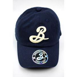 BROOKLYN BREWERY / LOGO STRAPBACK CAP / navy