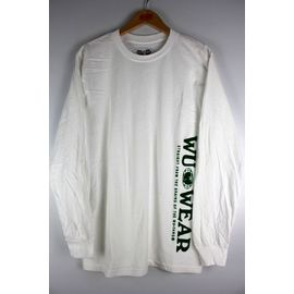 "WU WEAR / ""VERTICAL GRAINS"" LS Tee / white"