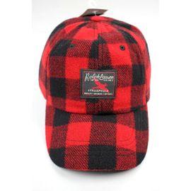 POLO RALPH LAUREN / PLAID WOOL CAP / red×black