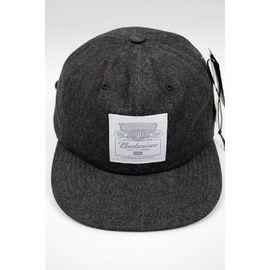 "HUF×BUDWEISER / ""BUDWEISER LABEL"" 6-PANEL DENIM CAP / black"