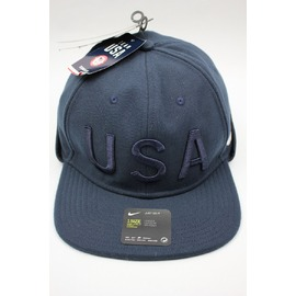 "NIKE / ""USA"" EAR FLAP FITTED CAP / navy"