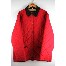 USED!!! TOMMY HILFIGER / REVERSIBLE QUILTING JACKET (00'S) / red⇔beige
